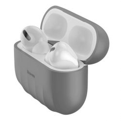 Baseus Shell Silica Gel tok fólia Apple Airpods Pro szürke (WIAPPOD-BK0G) telefontok hátlap tok