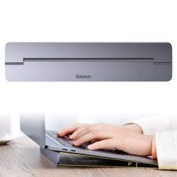 Baseus öntapadó alumínium laptop állni kívelt sú és vékony, sötét meleg (SUZC-0G)
