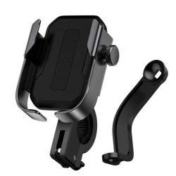 Baseus állítható telefon kerékpáros tartóval kormány és tükör fekete (SUKJA-01)