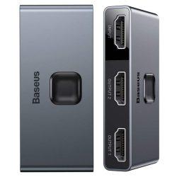 Baseus kétirányú HDMI - 2x HDMI elosztó kapcsoló 4K / 30 Hz, szürke (CAHUB-BC0G)