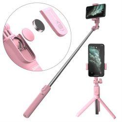 Baseus szelfi selfie Stick Állvány Teleszkópos állvány és a Bluetooth távirányító pink (SUDYZP-F04)