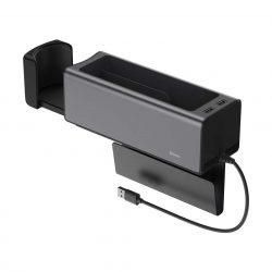 Baseus autó szervező pohártartó töltés 2x USB HUB fekete (CRCWH-A01)