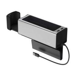 Baseus autó szervező pohártartó töltés 2x USB HUB ezüst (CRCWH-A0)