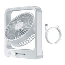 Baseus vezeték nélküli ventilátor 10 W 5400 mAh fehér (CXMF-A02)