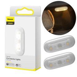 Baseus 2x öntapadó autó LED belső fény fehér (DGXW-02)