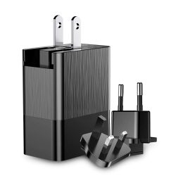 Baseus Duke töltő adapter fali töltő cserélhető Plug 3x USB 3.4A fekete (CCALL-GJ01)