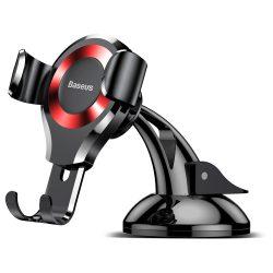 Baseus Osculum Gravity Autós tartó Portál szélvédő Phone Bracket tartó piros (SUYL - XP09) telefon tok telefontok