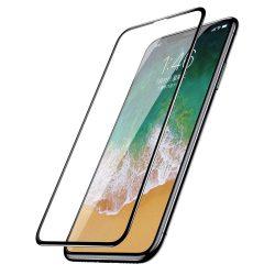 Baseus teljes képernyős (full screen) 3D edzett üveg képernyővédő fólia Apple iPhone XS / X fekete (SGAPIPHX-KC01) kijelzőfólia üvegfólia tempered glass