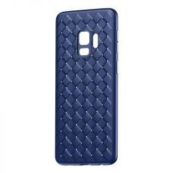 Baseus BV Weaving telefon tok hátlap tok Gel TPU hátlap tok telefon tok Weave Texture Design for Samsung Galaxy S9 G960 kék (WISAS9-BV15)