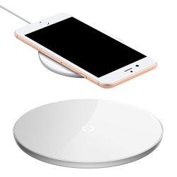 Baseus Egyszerű Styleos vezeték nélküli töltő Qi induktív Pad 2A 1.67A 10W USB / Lightning kábel 1.2M fehér (CCALL-JK02)