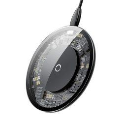 Baseus Egyszerű Styleos vezeték nélküli töltő Qi induktív Pad 2A 1.67A 10W USB / Lightning kábel 1.2M átlátszó (CCALL-AJK01)