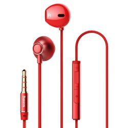 Baseus Encok H06 Lateral fülhallgató fülhallgató fejhallgató távirányító piros (NGH06-09)
