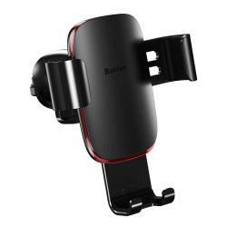 Baseus Metal Age Gravity Autós tartó Phone Holder Air Outlet fekete (SUYL-D01)