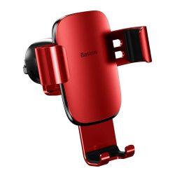 Baseus Metal Age Gravity Autós tartó Phone Holder Air Outlet piros (SUYL-D09)