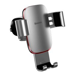 Baseus Metal Age Gravity Autós tartó Phone Holder Air Outlet ezüst (SUYL-D0S)