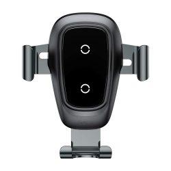 Baseus Gravity fém vezeték nélküli töltő Autós tartó Phone Bracket Air Vent Holder Qi töltő fekete (WXYL-B0A)