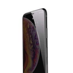 Baseus Diamond Body edzett üveg 3D Anti-Spy kijelzőfólia képernyőfólia 0,3 mm megerősített keret Apple iPhone XS Max fekete kijelzőfólia üvegfólia tempered glass