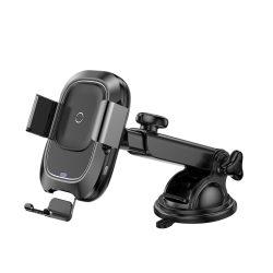 Baseus Smart jármű Konzol vezeték nélküli töltő Elektromos Auto Lock autós tartó Phone Bracket Portál tulajdonosa Qi töltő infravörös érzékelő fekete (WXZN - B01) telefon tok telefontok