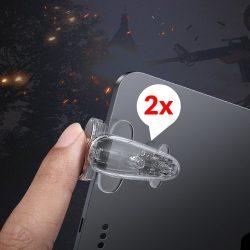 Baseus labdajáték eszköz Extra gombjai lökhárítók Grip Pad Tablet játékosok számára transzparens (ACPBCJ-02)