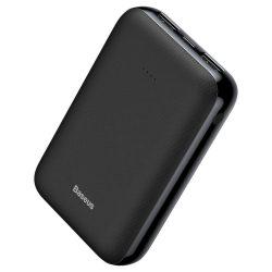 Baseus Mini JA Power Bank külső akkumulátor 10000 mAh USB / USB-C / micro USB 2.1A fekete (PPJAN-A01)