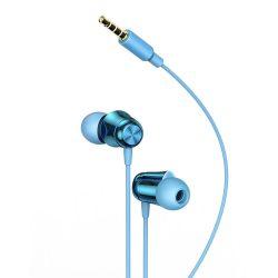 Baseus Encok H13 in - ear fülhallgató 3,5 mm - es mini jack fülhallgató távirányítóval kék (NGH13 - 03)