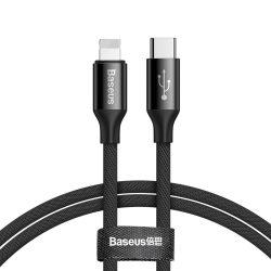 Baseus Yiven USB - C / Lightning kábel anyaga Braid 2A 1M fekete (CATLYW - C01)