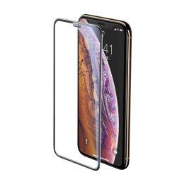 Baseus Teljes képernyős teljes képernyős (full screen) 3D edzett üveg Film hangszóró Dust fólia Apple iPhone XS / X fekete (SGAPIPH58-WA01) kijelzőfólia üvegfólia tempered glass