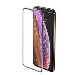 Baseus Teljes képernyős teljes képernyős (full screen) 3D edzett üveg Anti-Blue Light Film hangszóró Dust fólia Apple iPhone XS / X fekete (SGAPIPH58-WB01) kijelzőfólia üvegfólia tempered glass