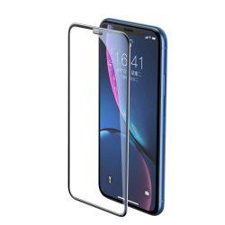 Baseus Teljes képernyős teljes képernyős (full screen) 3D edzett üveg Film hangszóró Dust fólia Apple iPhone XR fekete (SGAPIPH61-WA01) kijelzőfólia üvegfólia tempered glass