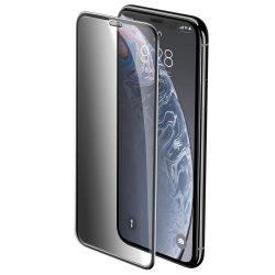 Baseus Teljes képernyős teljes képernyős (full screen) 3D edzett üveg Film Privacy Filter és hangszóró Dust fólia Apple iPhone XR fekete (SGAPIPH61-WC01) kijelzőfólia üvegfólia tempered glass