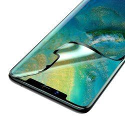 Baseus Teljes képernyős 2x teljes képernyős (full screen) 3D PET képernyővédő fólia 0,15 mm fólia Huawei Mate 20 Pro fekete (SGHWMATE20P-KR01) kijelzőfólia