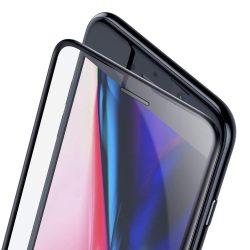 Baseus Teljes képernyős teljes képernyős (full screen) 3D edzett üveg Film hangszóró Dust fólia Apple iPhone 8/7 / 6S / 6 fekete (SGAPIPH8N-WA01) kijelzőfólia üvegfólia tempered glass