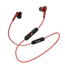 Baseus Encok S30 fül nélküli fejhallgató Bluetooth 5.0 headset távirányítóval piros (NGS30 - 09)