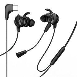 Baseus Gamo C15 In - Ear C típusú USB fejhallgató fülhallgató fekete (NGC15 - 01)