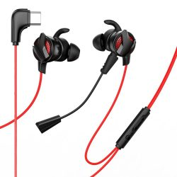 Baseus Gamo C15 In - Ear C típusú USB fejhallgató Headset piros (NGC15 - 91)