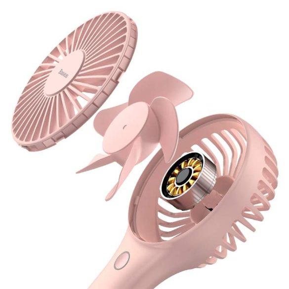Baseus Bingo kézi és asztali mini ventilátor szélmalom Pink (CXBG - 04)