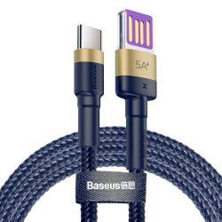 Baseus Cafule HW gyorstöltés Adatkábel USB kétoldalas Blind interpoláció Type - C 40W 1m arany + Blue (CATKLF - PV3)