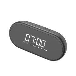 Baseus Encok E09 Stílusos hordozható vezeték nélküli Bluetooth hangszóró ébresztőóra és LED lámpa fekete (NGE09 - 01)