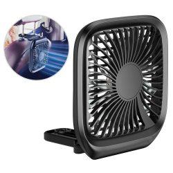Baseus Összecsukható Jármű szerelt Backseat Fan autós fejtámasz micro USB szélmalom Fekete (CXZD - 01)
