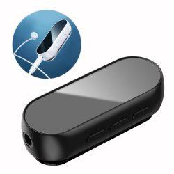Baseus BA02 vezeték nélküli (wireless) Bluetooth audio adapter AUX mini jack reciver fekete (NGBA02 - 01)