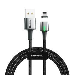 Baseus Cink Mágneses kábel USB A Lightning 2.4a 1m fekete (CALXC - A01)
