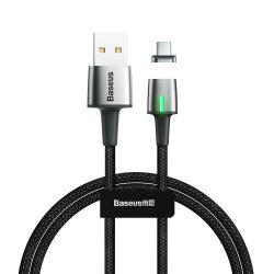 Baseus Cink Mágneses Cable USB USB Type C 3A 1m fekete (CATXC - A01)