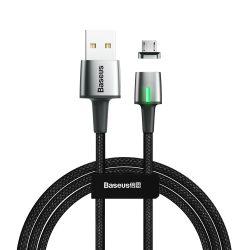 Baseus Cink Mágneses USB kábel Micro USB 2.4a 1m fekete (CAMXC - A01)