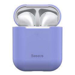 Baseus Ultravékony széria Silica Gel fólia Airpods 1/2 lila (WIAPPOD - BZ05) tok telefon tok hátlap