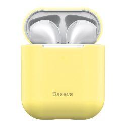 Baseus Ultravékony széria Silica Gel fólia Airpods 1/2 sárga (WIAPPOD - BZ0Y) tok telefon tok hátlap