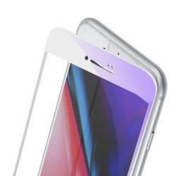 Baseus 0.23mm hajlított képernyős edzett üveg tempered glass tempered glass tempered glass ütésálló élek és anti-kék fény iPhone 8 / iPhone 7 fehér (SGAPIPH8N-HPE02)