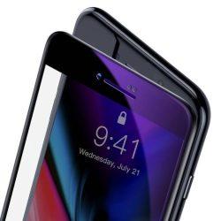 Baseus 0.23mm hajlított képernyős edzett üveg tempered glass tempered glass tempered glass ütésálló élek és anti-kék fény iPhone 8 Plus / iPhone 7 Plus fekete (SGAPIPH8P-HPE01)