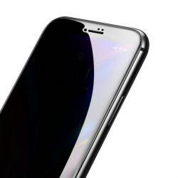Baseus 0.23mm hajlított képernyős edzett üveg tempered glass tempered glass tempered glass ütésálló élek és betekintésvédett iPhone 8 / iPhone 7 fekete (SGAPIPH8N-ATG01)