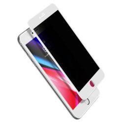 Baseus 0.23mm hajlított képernyős edzett üveg tempered glass tempered glass tempered glass ütésálló élek és betekintésvédett iPhone 8 Plus / iPhone 7 Plus fehér (SGAPIPH8P-ATG02)