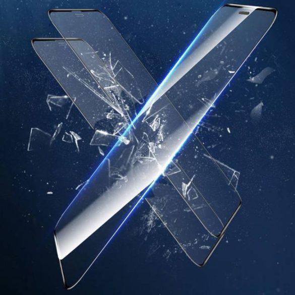 Baseus 2x teljes képernyős ívelt anti-kék fény edzett üveg tempered glass tempered glass tempered glass képernyővédő fólia iPhone 11 Pro / iPhone XS / iPhone X fekete (SGAPIPH58-WE01)